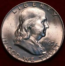 Uncirculated 1963-D Denver Mint Silver Franklin Half