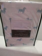 Cynthia Rowley Dachshund Dog 2 Standard Silhouette Pillowcases - NEW