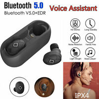 V5 TWS Wireless Earphones Bluetooth 5.0 Voice Earbuds Waterproof Sports Headsets