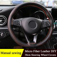 Manual Sewing Steering Wheel Covers Three-dimensional Anti-slip Protector Cover