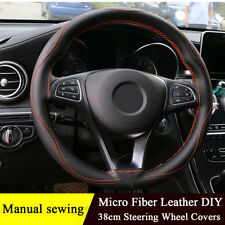 Manual Sewing Steering Wheel Covers Three-dimensional Anti-slip Protector Cover