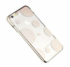 Coque rigide transparente avec contour effet chromé iPhone 6 Plus - Rond doré