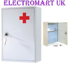Wall Mount Mounted Metal Steel 1st First Aid Medicine Medical Cabinet Storage 9c
