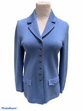 St  John Collection Periwinkle Blue Jacket Sz 6  Santana Knit
