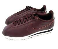 Nike Classic Cortez Leather Maroon/Bordeaux Women's Shoes 807471-603 Size 10.5
