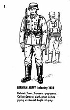 POSTCARD  MILITARY  GERMAN  ARMY  Infantry  1939