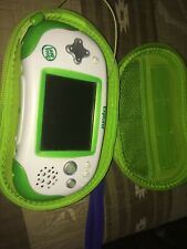 Green and White Leapster Explorer with Dark Blue And Green Carrying Case