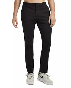 $330 Atm Anthony Thomas Melillo Mens 30W 31L Black Slim Fit Stretch Canvas Pants