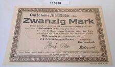 20 Mark Banknote Notgeld Kreis Mohrungen 10.November 1918 (115338)