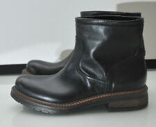 Max Mara Weekend Norma Motorcycle Biker Ankle Boots 36 6 Black Leather Italy