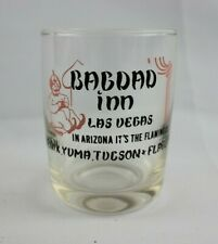 VINTAGE BAGHDAD INN LAS VEGAS ADVERTISING DRINKING GLASS
