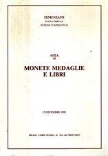 S12 Asta di monete medaglie e libri Semenzato 15 Dicembre 1988 Milano