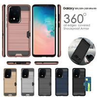 For Samsung Galaxy S20+ S20 Ultra S10 5G S10e Credit Card Shock Proof Tough Case