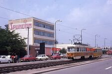 ORIGINAL TROLLEY SLIDE Timisoara Romania 224-433 Scene;July 1980
