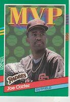 FREE SHIPPING-MINT-1991 Donruss San Diego Padres Baseball Cd #409 Joe Carter MVP