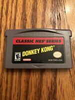 Donkey Kong Classic Nes Series (Nintendo Gameboy Advance GBA) Cart Only Works!