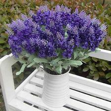 Neu 10 Kopf Kunstblume Lavendel Künstliche Blumen Seidenblumen