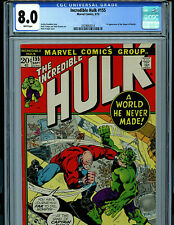 Hulk #155 CGC 8.0  Marvel Comics 1972 1st Shaper of Worlds Amricons K23
