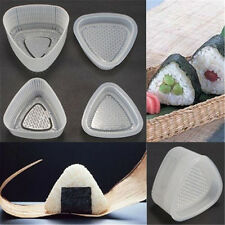 4 pcs Kitchen Bento Sushi Onigiri Mold Food Press Triangular Rice Ball Maker