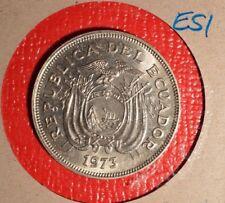1973 Ecuador 2 Sucres - RARE - Mintage ~ 35 pcs. Inv# - E-51