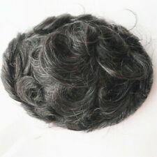 Human Hair Skin PU Men's Toupees Hair Replacement SystemsHairpieces Hair Toupees