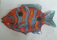 VERY LARGE ANITA HARRIS ART POTTERY FISH PLATTER – GOLD SIGNATURE - 1ST TRIAL