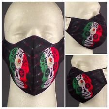 New Digitally Printed Mexican Sugar Skull Washable Double Layered Face Mask