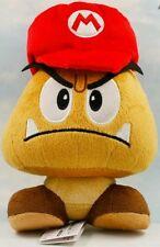 SUPER MARIO BROS. MARIO CAPPELLO GOOMBA PELUCHE - 21Cm. - Hat Cap Plush Nintendo