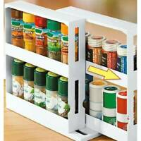 Multifunction Rotating Jars Spice Rack Kitchen Storage Holder Rack Organize