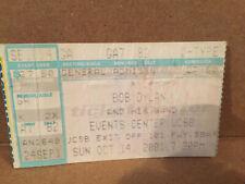 Bob Dylan Concert Ticket Stub 10-14-2001