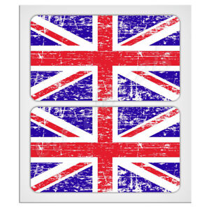 "2X70mm-2.76"" Distressed UK Union Jack flags Laminated Decal Sticker classic mini"