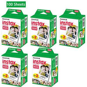 400 Fujifilm Instax Mini Film  Sheets Fuji instant photos 7s 8 25 90 Polaroid