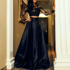 Women Lace Top + Skirt Cocktail Party Evening Formal Ball Gown Prom Mini Dresses