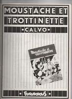 CALVO. Moustache et Trottinette 1. L'île mystérieuse Futuropolis 1976. Etat neuf