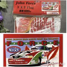 John Force™ Castrol® NHRA® Drag Racing Flag 3' X 5' Polyester 2000 ~ NEW Banner
