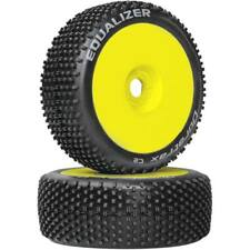 NEW Duratrax 1/8 Equalizer Buggy Tire C2 Mounted Yellow (2) DTXC3647