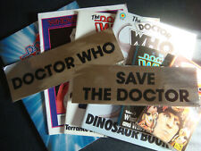 Lot Of 8 Doctor Who Collectible Stickers Books Programme & Technical Manual