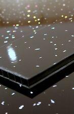 8 x Black Sparkle 5mm Decorative Wall cladding Bathroom Cladding Pvc K380-2
