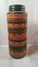 Vintage West German Brown/Gold Large Pottery Vase 40cm