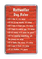 Rottweiler Dog Rules, Funny Dog Fridge Magnet Pet Animal Lover Gift