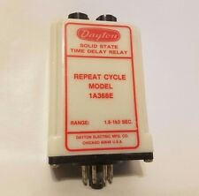 Dayton Model 1A368E Solid State Time Delay Timing Relay Repeat Cycle 1.8-180 SEC