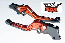 KTM DUKE 390 6 Position 3 WAY Adjustable Foldable Brake Clutch Levers ORANGE