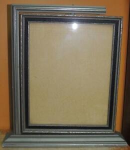 "Antique 8""x10"" Picture Frame Art Deco Silver Black Parrish swing side pivot STYL"