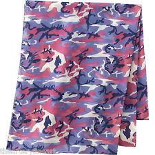 """ANDY WARHOL x UNIQLO 'Camouflage' SPRZ NY Art Stole / Scarf 71"""" x 31"""" Purple NEW"""
