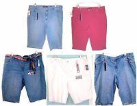 Gloria Vanderbilt Denim Jean Shorts & Skimmers Sizes Regular 10 - Plus Sizes 24