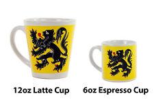 New Ceramic Espresso Mug Cycling Lion Of Flanders Design Free P&P