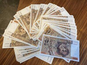 Lot de 45 billets 100 francs Delacroix