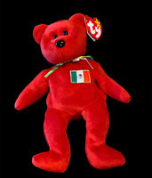 Original Ty Beanie Baby OSITO The Bear Red Beanie With Tag