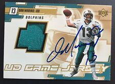 DAN MARINO 2000 Upper Deck UD Game JERSEY AUTOGRAPH On Card AUTO Rare! Dolphins
