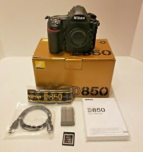 Nikon D850 45.7 MP Digital SLR Camera - Black (Body Only) Low Actuations